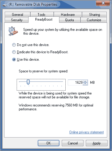readyboost windows7